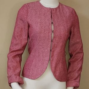 XS Tulle Red Tweed Blazer